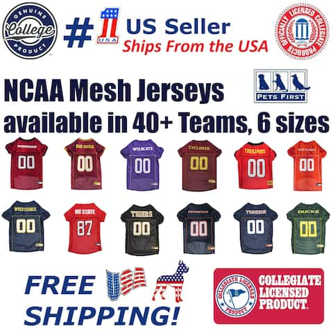 32927152dbc Pets First NCAA Mesh Jersey for Dogs and Cats - Licensed.