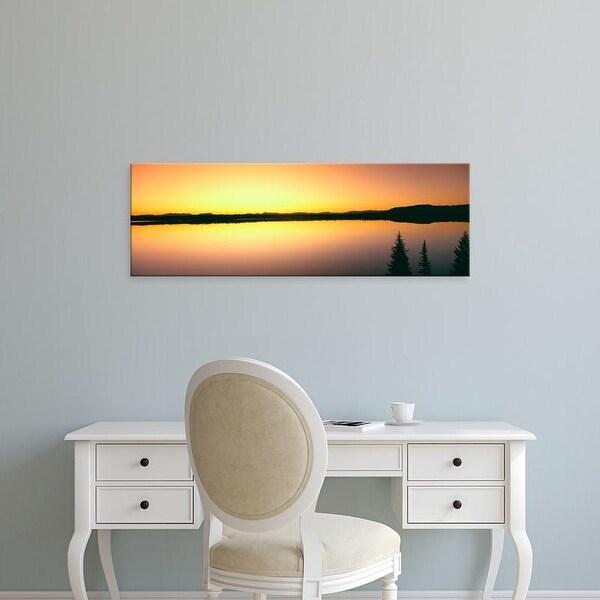 Easy Art Prints Panoramic Images's 'Sunrise over Jenny Lake, Grand Teton National Park, Wyoming, USA' Canvas Art