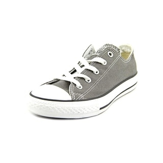 Converse Chuck Taylor All Star Ox Youth Round Toe Canvas Gray Sneakers