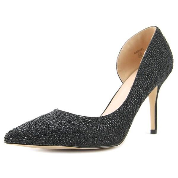 Lauren Lorraine Raquel Women Pointed Toe Synthetic Black Heels