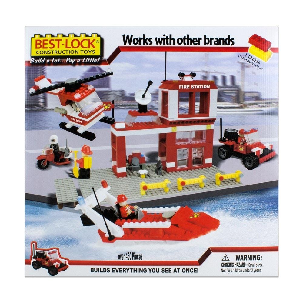 Construction Toys Product : Shop best lock construction toys fire rescue pieces