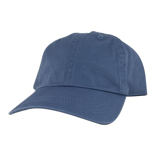 CapRobot Style#760 Unstructured Low Profile Strapback Hat Dad Cap - Washed Blue