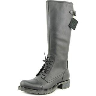 Sebago Saranac Lace High Women  Round Toe Leather  Knee High Boot