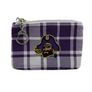 Get Ready Girls Womens East Carolina Pirates Coin Pouch/Purse Plaid Collegiate