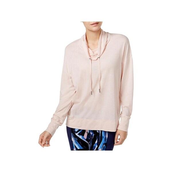 7d782431b4349 Shop Calvin Klein Performance Womens Pullover Top Cowl Neck Running ...