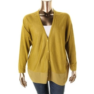 Lafayette 148 New York Womens Linen Hi-Low Cardigan Sweater - p