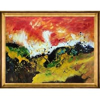 Abstract 1811807 by Pol Ledent Framed Hand Painted Oil on Canvas