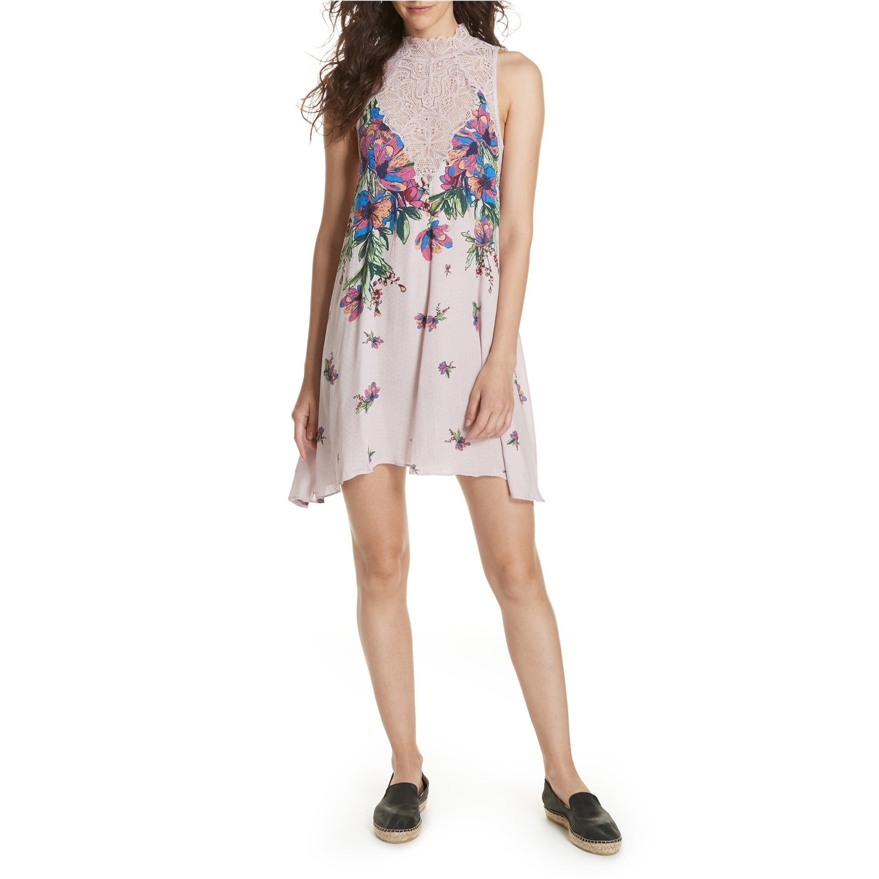 Free People Womens Marsha Lace Slip Dress