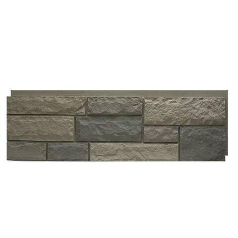 NextStone Polyurethane Faux Stone Random Rock Panel - Tri Gray