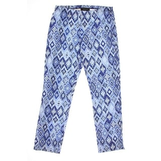 Karen Kane Womens Pattern Straight Leg Capri Pants