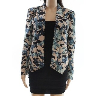 Rebecca Minkoff NEW Beige Womens Size 4 Open Front Printed Jacket