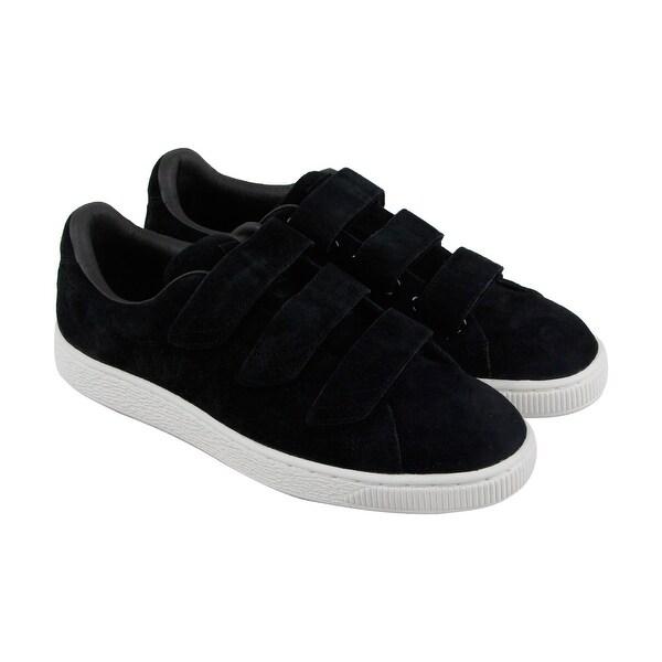 quality design 3a434 2b0e2 Shop Puma Basket Strap Soft Premium Mens Black Suede Strap ...