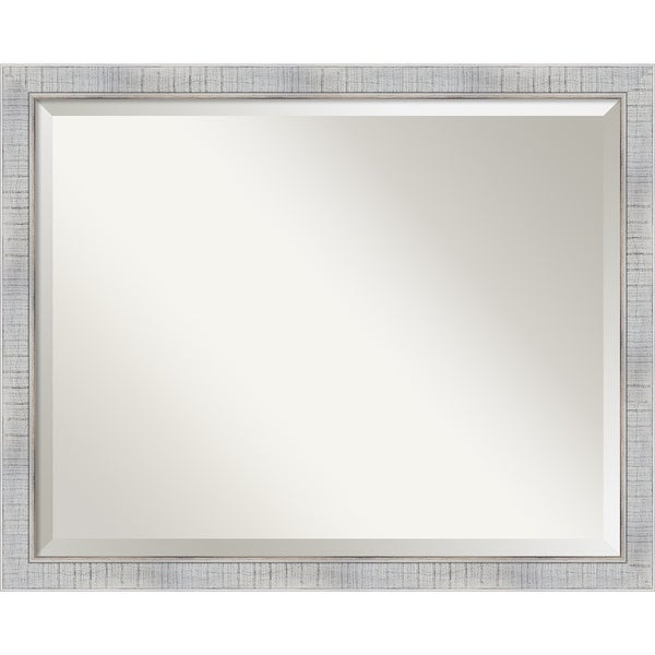 The Gray Barn Wilset Large Whitewashed Mirror - 24.88 x 30.88 x 0.804 inches deep. Opens flyout.
