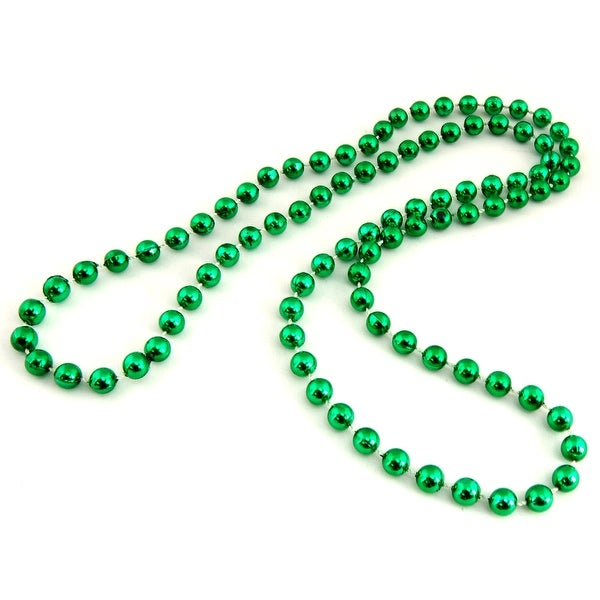 St Patrick's Day String Of Green Beads Accessory