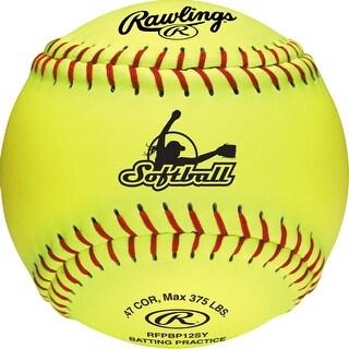"Rawlings 12"" Batting Practice Fastpitch Softball (Dozen) Optic Yellow 12"
