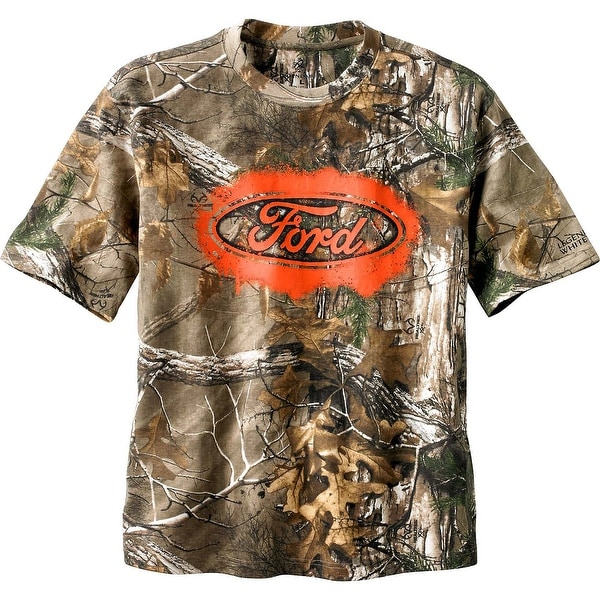 Legendary Whitetails Men's Trucked Up Ford Short Sleeve Camo T-Shirt - realtree xtra