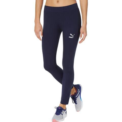 Puma Womens Glam Athletic Leggings Glitter Fitness - S