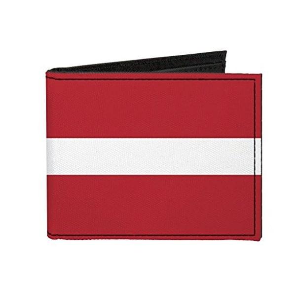 Buckle-Down Canvas Bi-fold Wallet - Latvia Flag Accessory