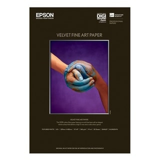 Epson Velvet Fine Art Paper (13X19 Inches, 20 Sheets) (S041637)