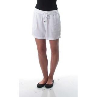 RALPH LAUREN $79 Womens New 1505 White Pocketed Tie Bermuda Casual Short 2 B+B