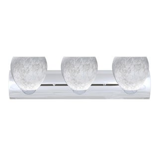 Besa Lighting 3WZ-412219 Bolla 3 Light Reversible Bathroom Vanity Light with Carrera Glass Shades (2 options available)