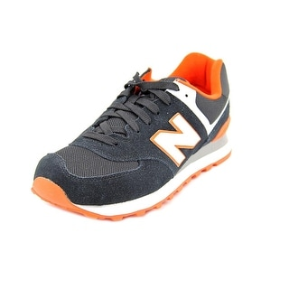 New Balance ML574 Men   Suede Black Fashion Sneakers