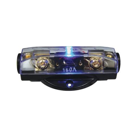 Nippon cq1221p fuseholder anl audiopipe blue led; platinum