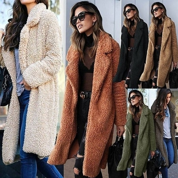 37e04b3df5 Women Parka Casual Outwear Fur Coats Manteau Femme Clothes Fashion Winter  Warm Faux Fur Jacket