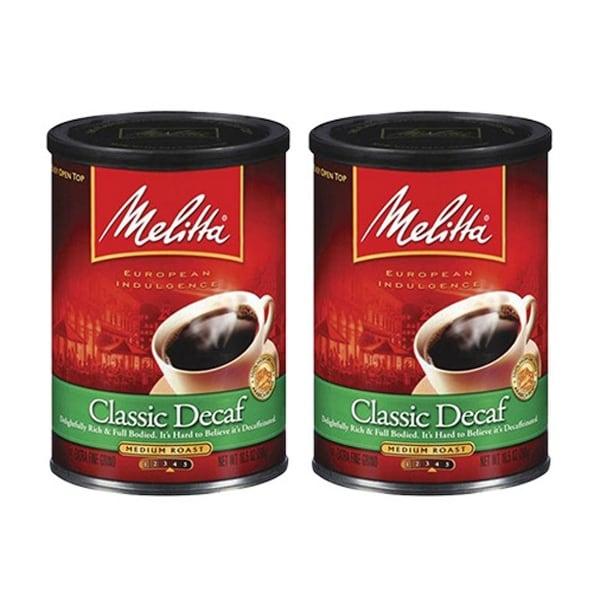 Melitta 605211 Classic Decaffeinated (2-Pack) Classic Decaf Ground Coffee