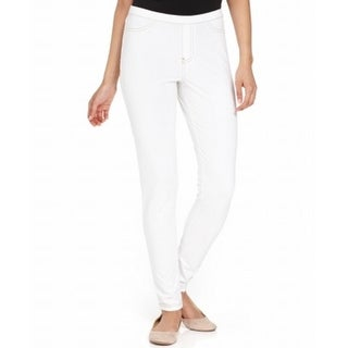 Hue NEW Bright White Women's Size Small S Skinny Leg Pull On Pants