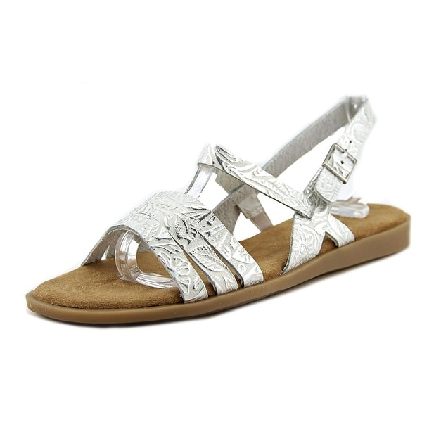 Aerosoles Astrology Women White Silver Sandals