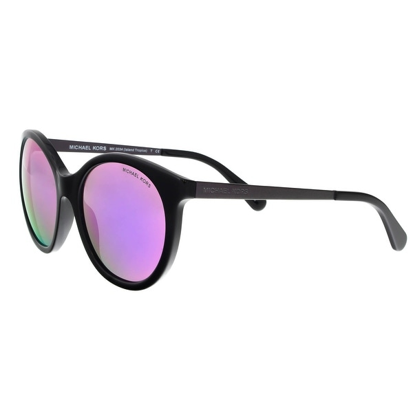 383bbb263c6a5 Michael Kors MK2034 32034X Island Tropics Black Purple Round Sunglasses -  55-18-