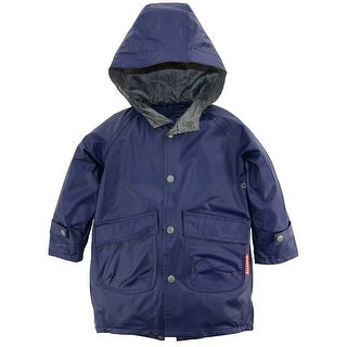 Wippette Toddler Boys Solid Hooded Fisherman Raincoat Anorak Jacket