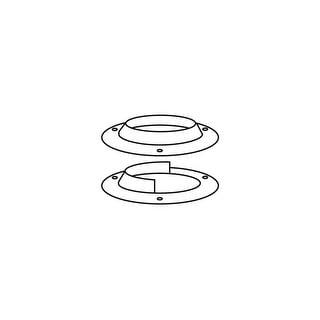 Delaney 407403  Metal Pole Socket - Polished Brass