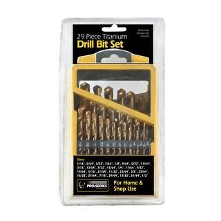 Offex 29 Piece Titanium Drill Bit Set - Silver