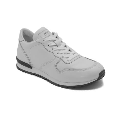 Tod's Men's Leather Sneaker Shoes White