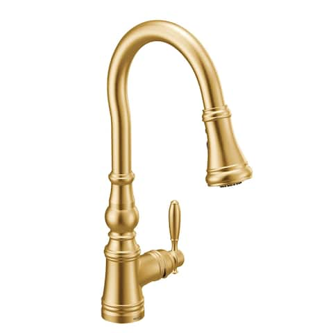 Moen One-Handle Pulldown Kitchen Faucet Brushed Gold (S73004BG)