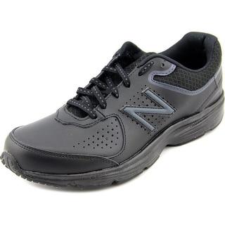 New Balance WW411 2A Round Toe Leather Walking Shoe
