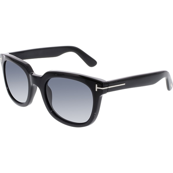 eac7fdc0bb387 Shop Tom Ford Women s Campbell FT0198-01A-53 Black Square Sunglasses ...