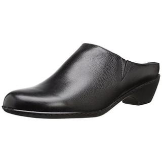 Walking Cradles Womens Cane Leather Heels Mules