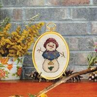 "Snowlady Mini Counted Cross Stitch Kit-3""X4"" 14 Count"