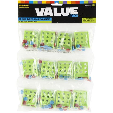 Party Favors 12/Pkg-Mini 3-In-A-Row Games