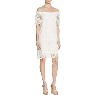 VELVET BY GRAHAM & SPENCER Womens Casual Dress Lace Off-The-Shoulder