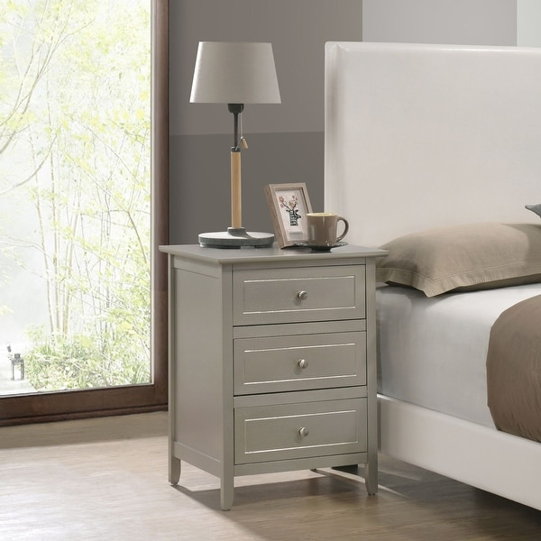 Glory Furniture Daniel 3-drawer Wooden Nightstand. Opens flyout.