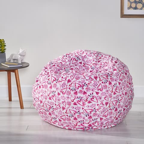 Mishas Modern 3 Foot Fabric Bean Bag by Christopher Knight Home