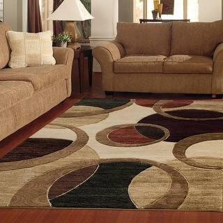 Orelsi Beige/Brown Polyester Area Rug