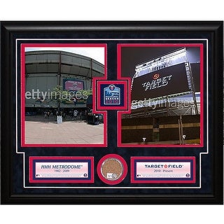 Minnesota Twins Metrodome Deluxe Quot Piece Of The Roof Quot Frame