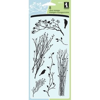 """Inkadinkado Clear Stamps 4""""X8""""-Delicate Branches https://ak1.ostkcdn.com/images/products/is/images/direct/caaf70103051b3f4bfcb139294a09a816efaa12b/Inkadinkado-Clear-Stamps-4%22X8%22-Delicate-Branches.jpg?impolicy=medium"""