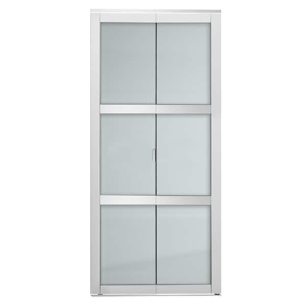 Indoor Studio 3 Lite Frosted Bifold Closet Door White 24 X80 5 Overstock 29367366