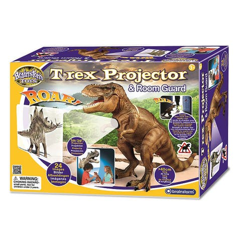 Brainstorm Toy T Rex Projector and Room Guard - 24 Images - Guards Your Room with a Mighty Roar - Black